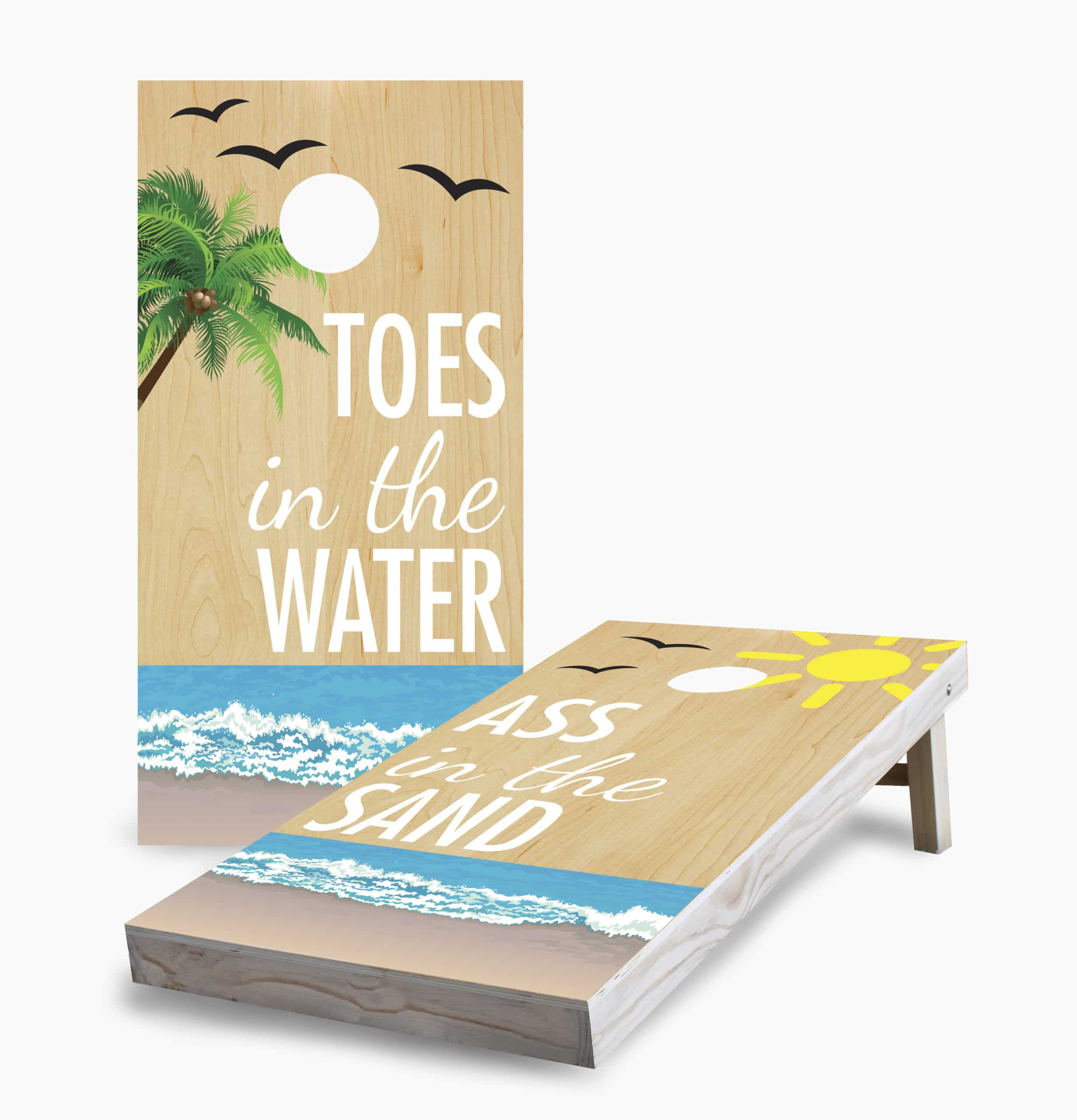 Toes In The Water Cornhole Game