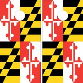 Maryland State Flag Cornhole Wraps
