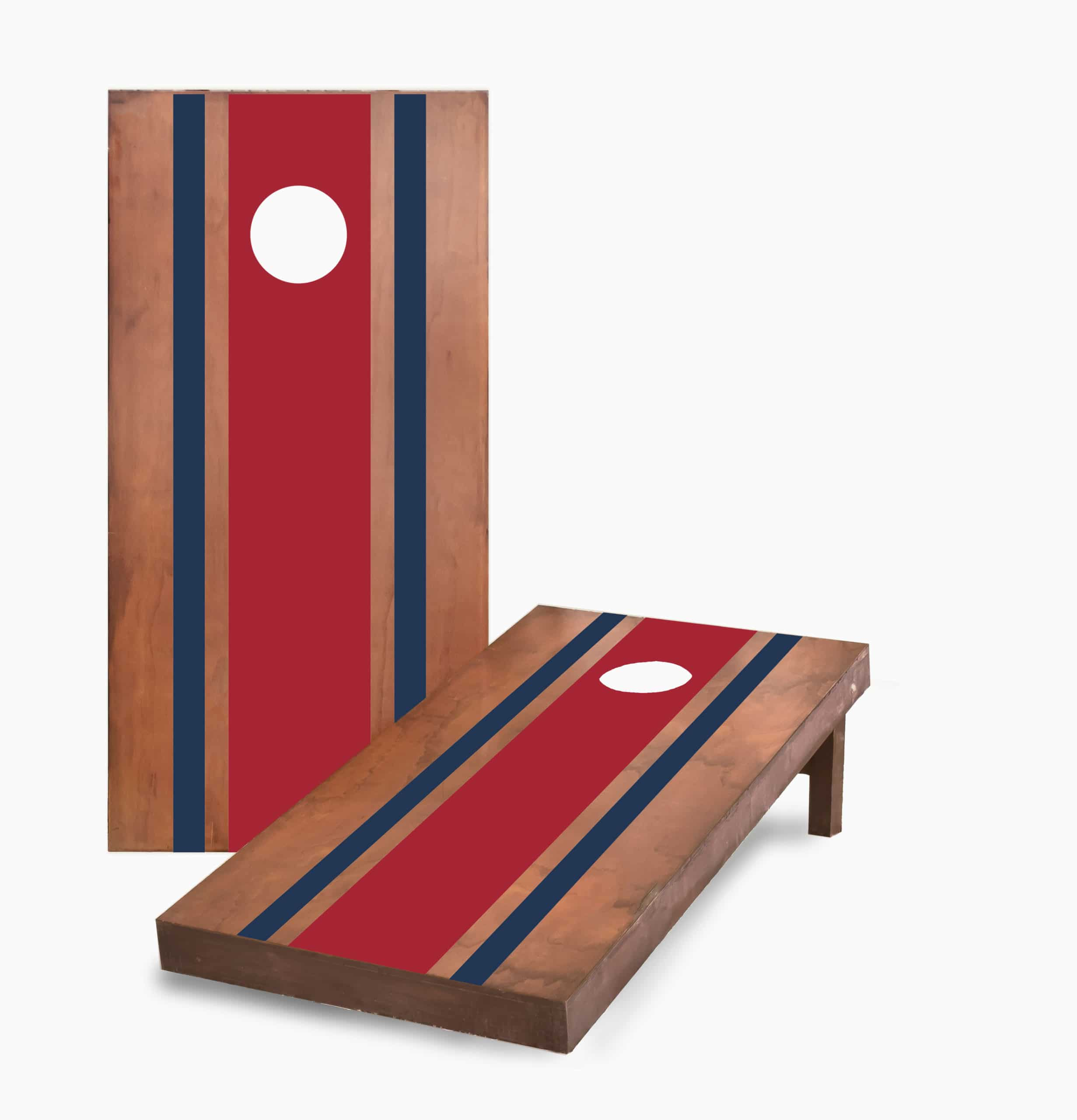 Stained With Color Stripes Cornhole Game
