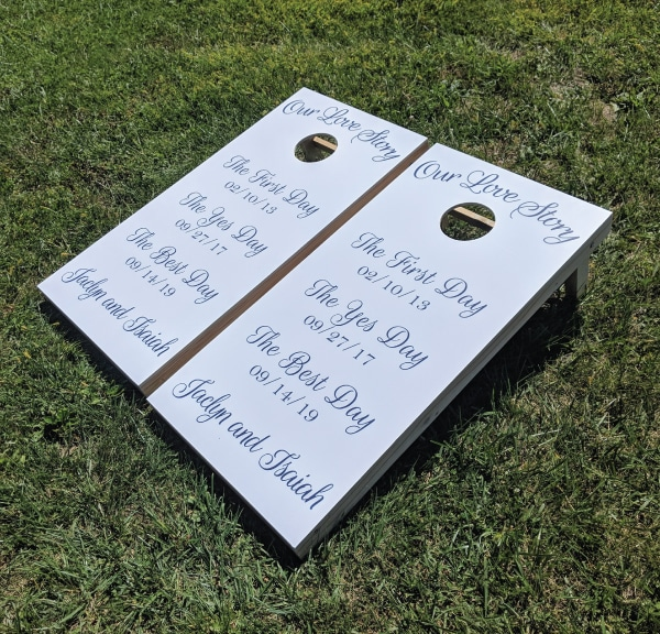 Our Love Story Cornhole Game - Our Love Story